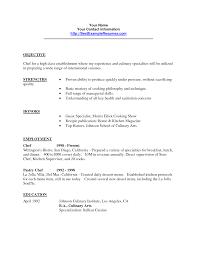 Resume Cover Letter Culinary Internship Adriangatton Com