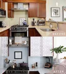 How To Transform Your Kitchen Cabinets With Wallpaper Salt House