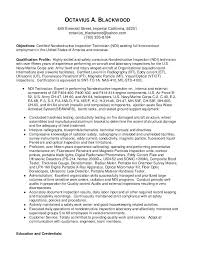 ndt resume samples ndt technician resume example joefitnessstore com