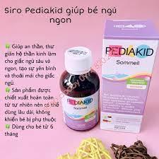 Siro Pediakid giúp bé ngủ ngon (>6m)   Vitamin,Thực phẩm chức năng