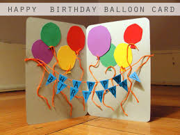 diy tutorial diy happy birthday balloon card