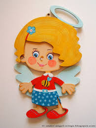 painted wooden angel girl personalized custom