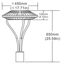 garden pole. 75 Watts Garden Pole Mount Circular Area Light