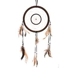 Asian Dream Catcher 100 Traditional Brown Dream Catcher with Feathers Wall or Car 53