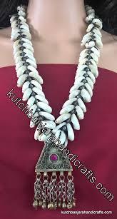 banjara afghani pendant cowrie shell necklace 1 kutch banjara handicrafts