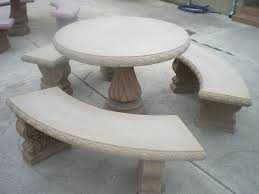 ... Pleasant And Durable Concrete Patio Furniture Home Ideas Collection  Image Of Table Round Set Full Size