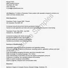 Sample Resume: Web Application Penetration Tester Resume Pic.