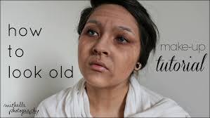 how to look old make up tutorial schocktober 2
