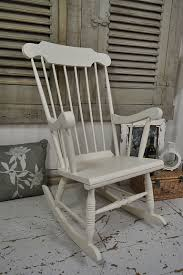 this shabby chic pine rocking chair painted in farrow ball slipper satin is lightly distressed