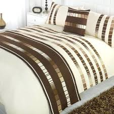 5 piece complete duvet cover bedding set single double king kingsize super size in home furniture blue white and brown