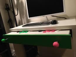 Slim Computer Desk Micke Computer Desk Arcade Stick Hack Ikea Hackers Ikea Hackers