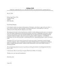 Cover Letter For Teaching Job In Nigeria Cover Letter