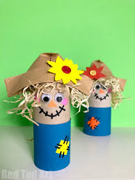Preschool toilet Communication Board Easy Toilet Paper Roll Scarecrow For Preschool Red Ted Art Easy Toilet Paper Roll Scarecrow For Preschool Red Ted Arts Blog