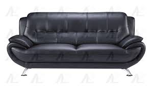 american eagle furniture ae208 modern black faux leather sofa loveseat and chair set 3pcs order