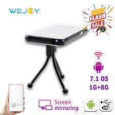 Wejoy DL S6 Mini Thông Minh Di Động ĐÈN LED Máy Chiếu DLP Android Pico Bỏ  Túi Điện Ảnh Di Động Projetor Cho подарок proyector Para celular 