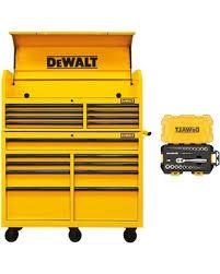 dewalt tool cabinet. steel tool chest cabinet combination, yellow dewalt