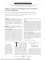 Pdf Efficacy Of Topical Antifungals In The Treatment Of