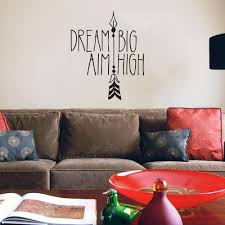 dream big aim high lettering pattern wall stickers for nursery kids room home decor vinyl bedroom wall decals murals k598 wall stickers large wall stickers