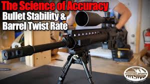 Rifle Barrel Twist Rate Chart Bullet Stability Barrel Twist Rate Long Range Shooting Applied Ballistics