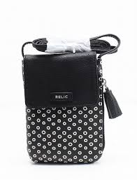 relic handbags purses eyelet dots printed pvc smartphone cross bag purse one size com