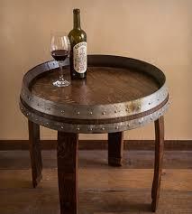 Wine Barrel Kitchen Table Charming Wine Barrel End Table Image Lollagram