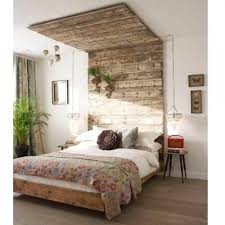 canopy like wooden headboard via shelterness