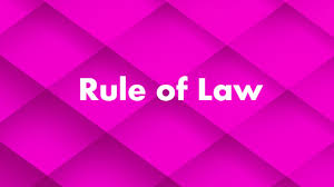 constitutional law rule of law