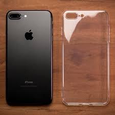 iphone 7 plus black. ultra thin transparent gel case - apple iphone 7 plus (5.5in) iphone black