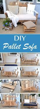 wooden pallet furniture ideas. DIY Pallet Sofa Wooden Pallet Furniture Ideas N