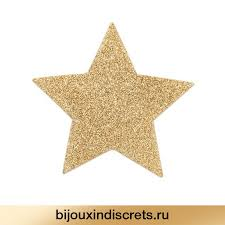 Bijoux Indiscrets FLASH - STAR GOLD. <b>Украшение на грудь</b>