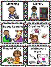 Literacy Station Pocket Chart Labels Literacy Stations