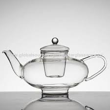 china glass tea pot glass infuser set