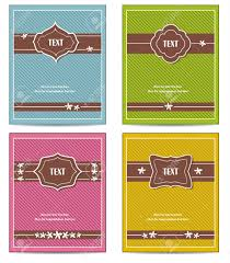 old book cover template old vintage book cover set or template frame design for greeting