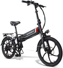 <b>Samebike 20LVXD30 Smart Folding</b> Electric Moped Bike 20 Inch ...