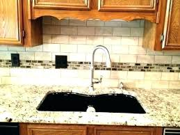 backsplash for dark countertops full size of best for white cabinets and black brick what color