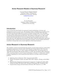 action research models in business research pdf available