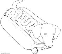 Dog Coloring Pages Free Dog Coloring Pages Printable Dachshund Free