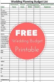 003 Free Printable Wedding Budget Checklist Template Unique