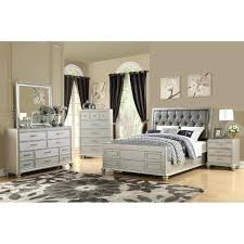 modern queen size bed frame 4 piece modern queen size bedroom set in rustic white
