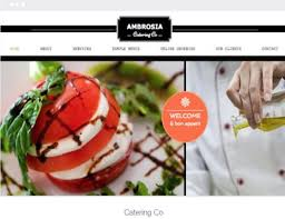 Business Website Templates Impressive Catering Business Websites Varieties Of Website Designs