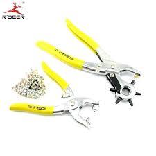 leather riveting kit eyelet tool pliers kit hole punch with eyelets leather rivet setting tool for