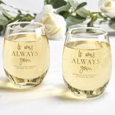it was always you stemless wine glass