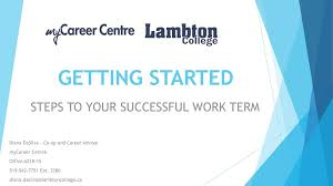 Steps To Your Successful Work Term Ppt Download