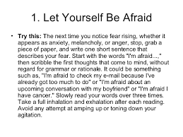 tips for a fearless life