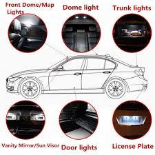 Hyundai I30 Side Light Bulb Replacement Convenience Bulbs Car Led Interior Light For Hyundai I30 Elantra C10w W5w Replacement Bulbs Headlight Bright White 4pcs Per Set