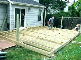 free standing deck framing ground level plans freestanding pool small standin free standing pool deck kit plans
