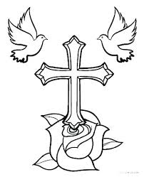 Coloring Pages Cross Stained Glass Cross Coloring Page Stained Glass