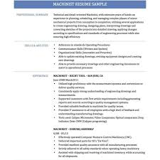 Machinist Resume Template Cnc Machinist Resume Templates Sampl Sevte 18