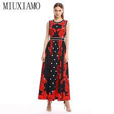 <b>MIUXIMAO 2019</b> Spring&Summer Long Dress <b>New</b> Arrival <b>Fashion</b> ...