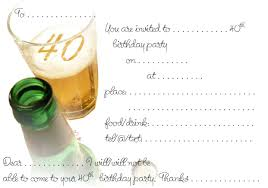 free printable surprise th birthday party invitations simple ideas 40th birthday invites templates